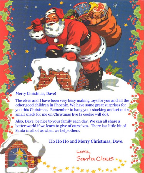 Letter from santa claus personalizeabookforme letter from santa claus spiritdancerdesigns Images